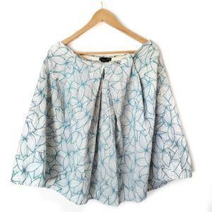 Club Monaco Embroidered Floral Skirt SZ 8